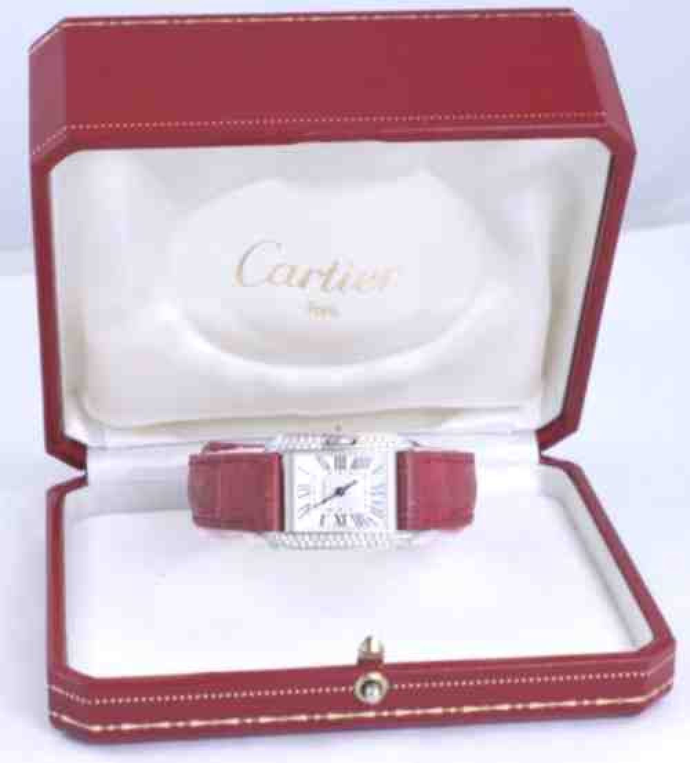 Cartier-Tank-Anglaise-18k-white-gold-diamond-red-crocodile-watch