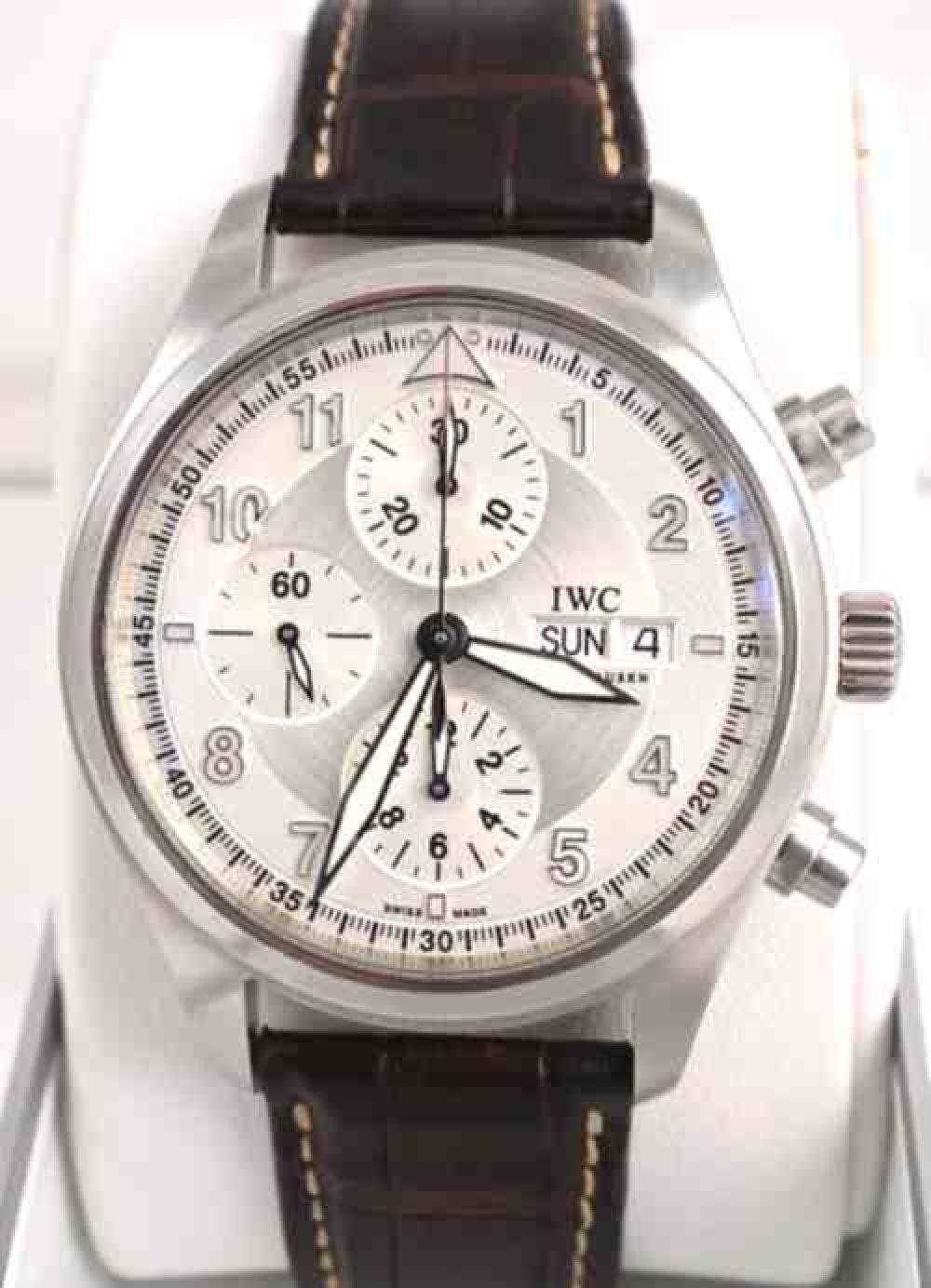 IWC-Fleiger_Chronograph_Silver-Face_Mens_Watch