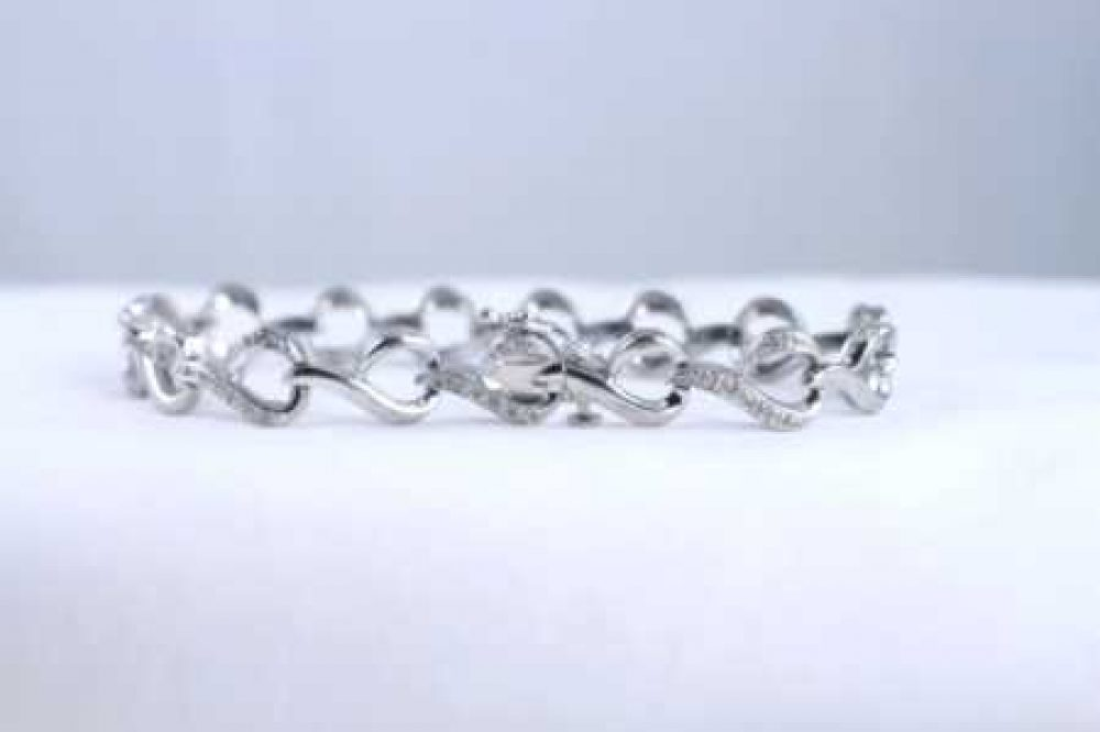 Kay Jewelers Sterling Silver And Diamond Lady S Bracelet