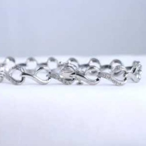 Kay Jewelers Sterling Silver and Diamond Lady's Bracelet