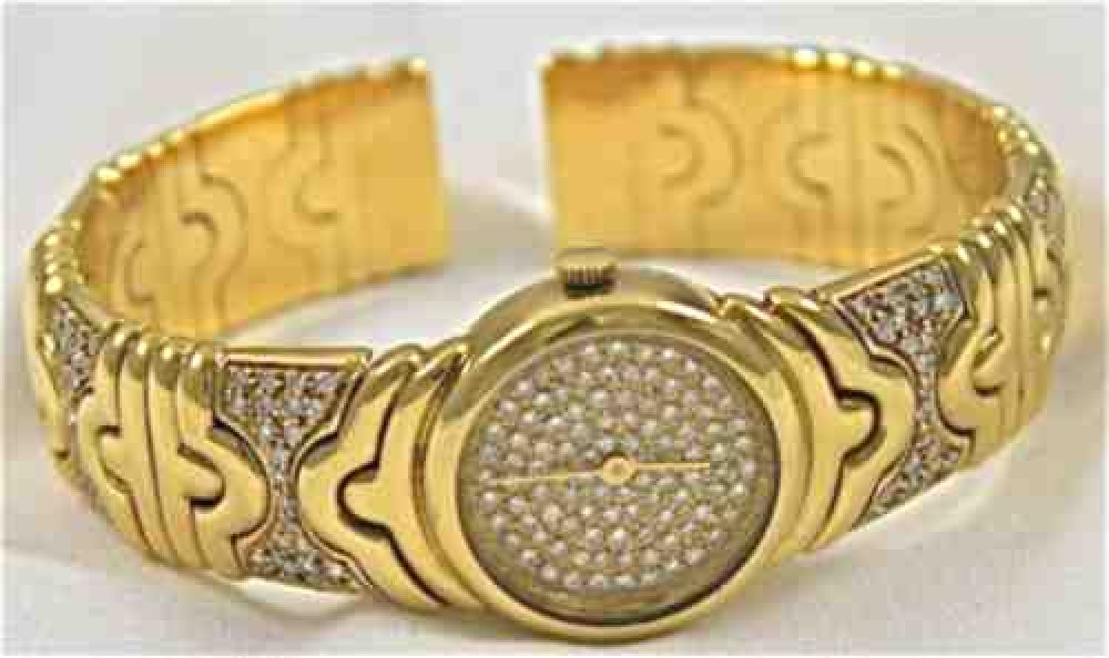 Ladies-gold-diamond-watch