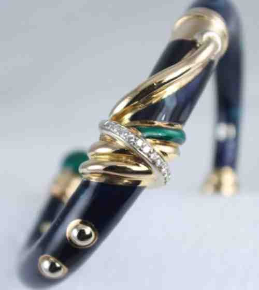 Nouvelle-Bague-Navy-Diamond-Enamel-Bracelet