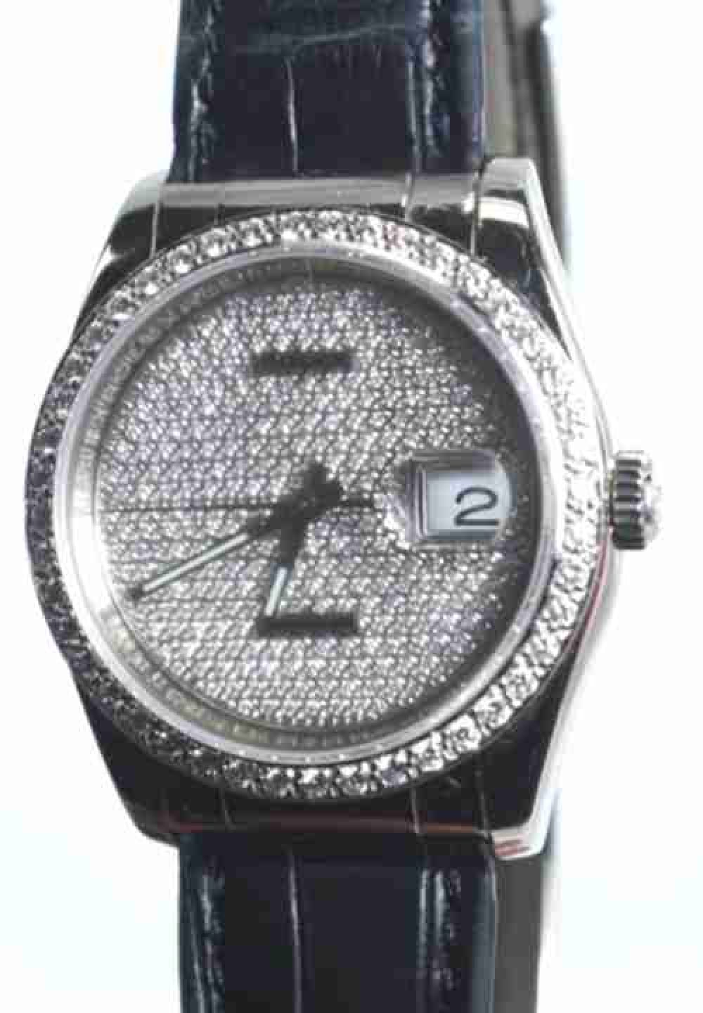 Rolex-Oyster-Perpetual-Datejust-18k-White-Gold-Diamond-Mens-Watch