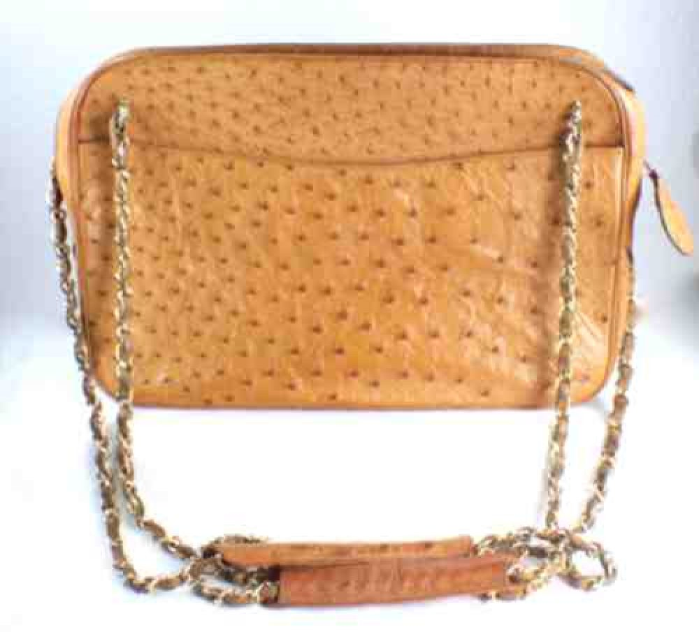 Vintage_Chanel_Caramel_Ostrich-Shoulder_Bag