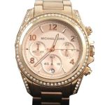 Michael Kors Rose Golden Stainless Steel Blair Glitz Watch Mens