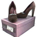 Prada Calzature Donna Moro Camoscio Evening Pumps Shoes