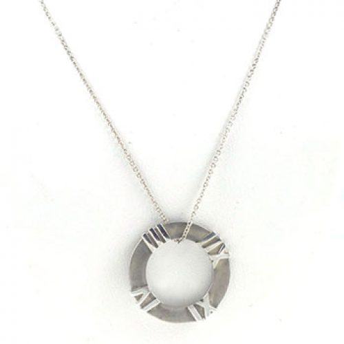 Tiffany & Co Sterling Silver Altas Pendant