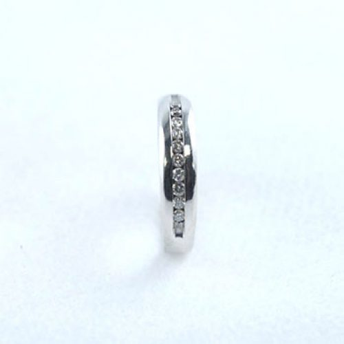 Diamond & White Gold Men's Wedding Ring