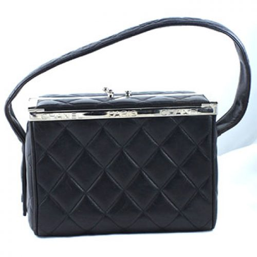 Vintage Chanel Quilted Leather Lunch Box