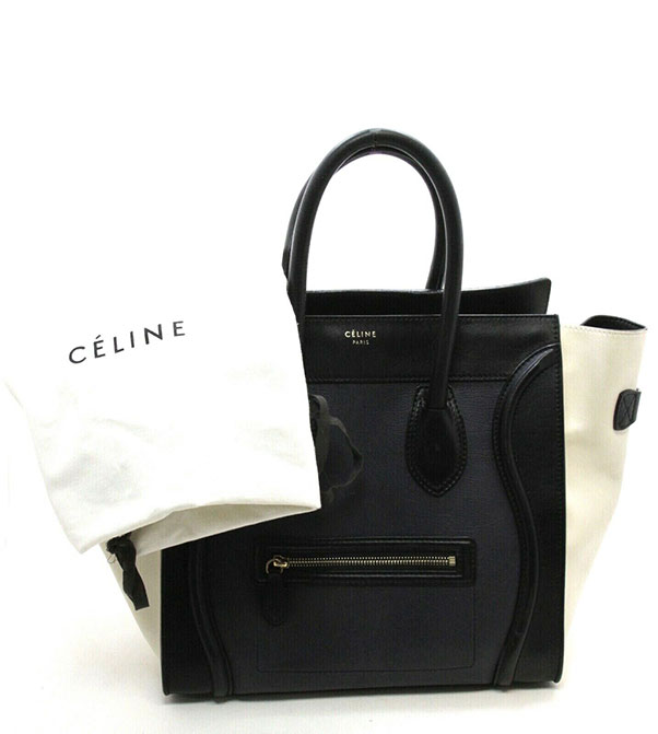 Celine Tri Color Luggage Bag Leather Nano Large