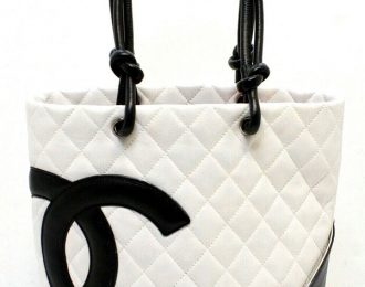 Chanel Calfskin Quilted Medium Cambon Tote Shoulder Handbag