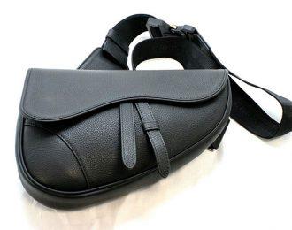 Christian Dior Kim Jones Saddle Crossbody bag Black Leather