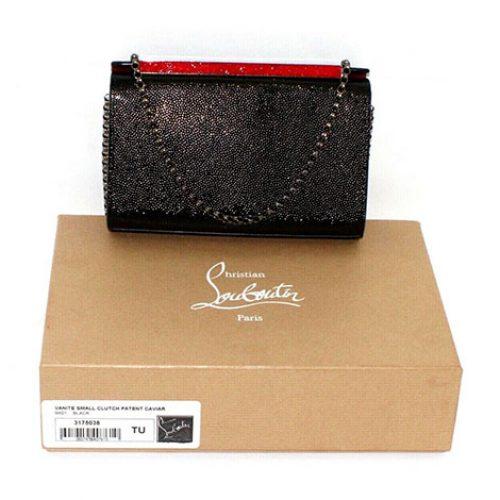 Christian Louboutin Vanite Clutch Patent Caviar Crossbody Bag