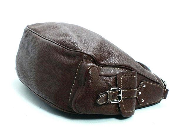 Prada Side Pocket Shoulder Bag Brown