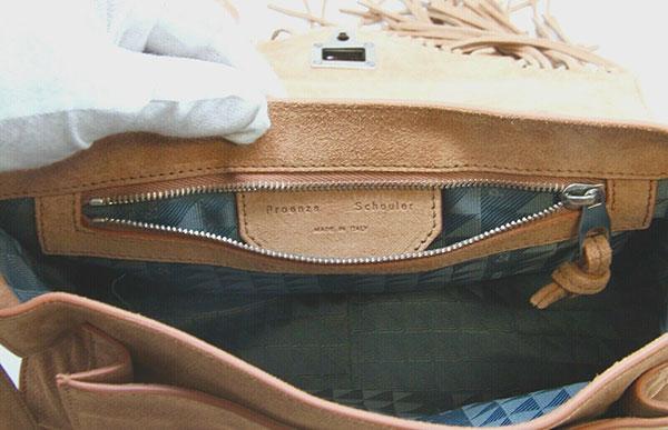 Proenza Schouler Brown Suede Shoulder Handbag